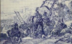 Henrique el Navegante conquista Ceuta (detalle)
