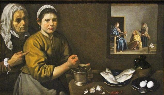 Cristo en casa de Marta y María-Velázquez