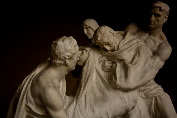 Tumba de Canalejas, de Mariano Benlliure. Panteón de hombres ilustres (Madrid)